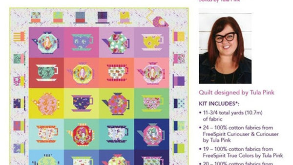 Mad HatterTea Party Quilt Kit -by Tula Pink