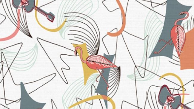 Flamingos & Guitars HOFFMAN Canvas