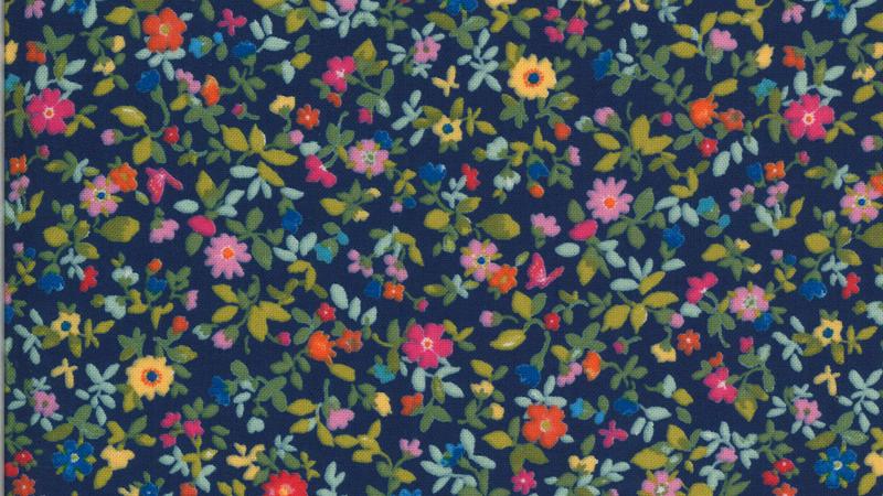 Lulu Packed Floral CHEZ MOI Moda Fabrics