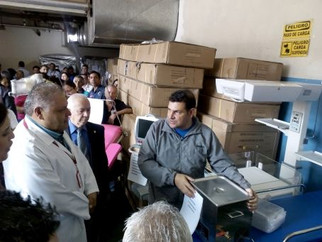 223 medical and technological equipment arrive at University Hospital in Merida