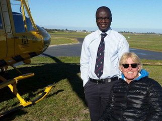 Perth doctor's life-saving work at car crash leads to medical equipment donation to Ghana
