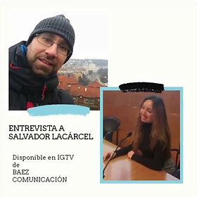 Entrevista en Baéz Comunicación (Instagram)
