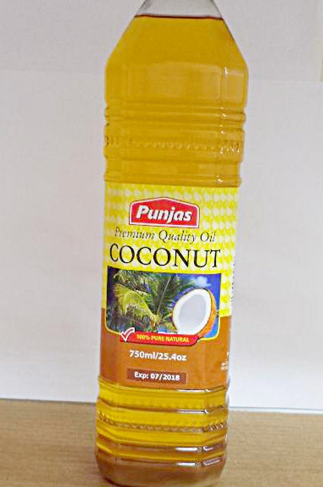 Punjas Premium Quality Coconut Oil 750ml 6 bottles Free Shipping
