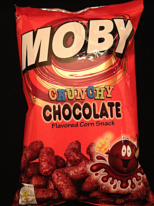 Moby Crunchy Chocolate Corn Snack 90gm 7 pkg Free Shipping