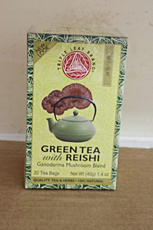 Triple Leaf Green Tea with Reishi 20bags 8 boxes Free Shipping