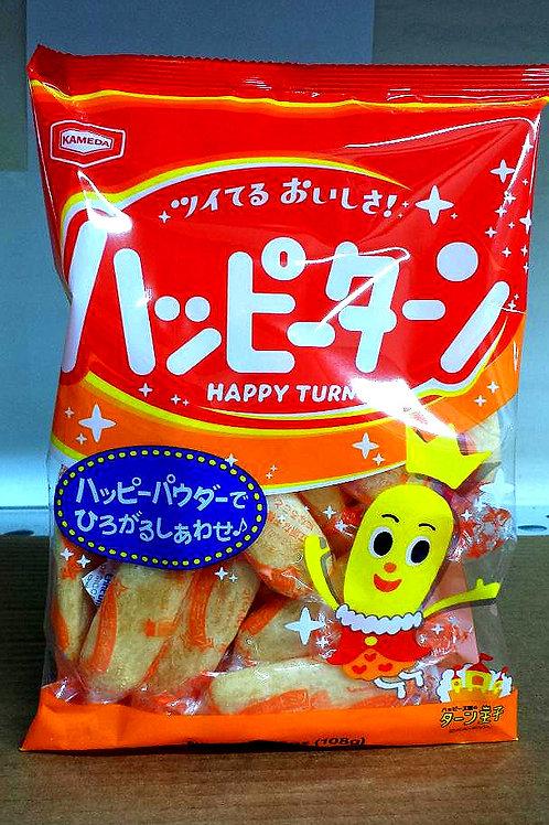 Kameda Happy Turn Rice Cracker 108gm 6 pkgs Free Shipping