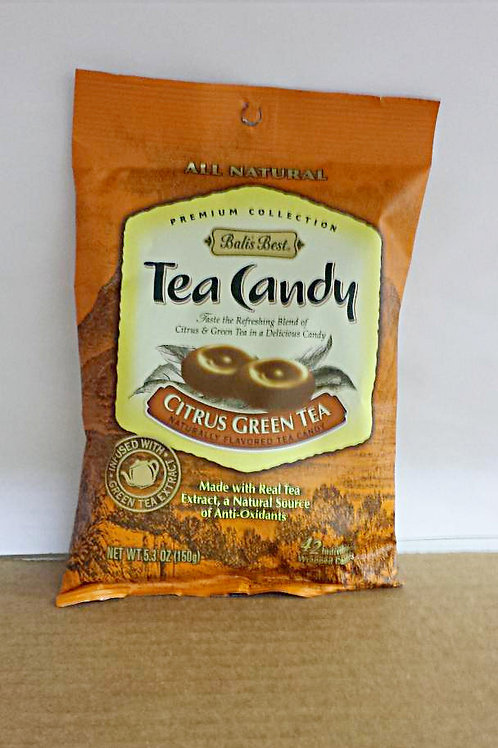 Bali's Best Tea Candy Citrus Green Tea 150gm 7 pkg Free Shipping
