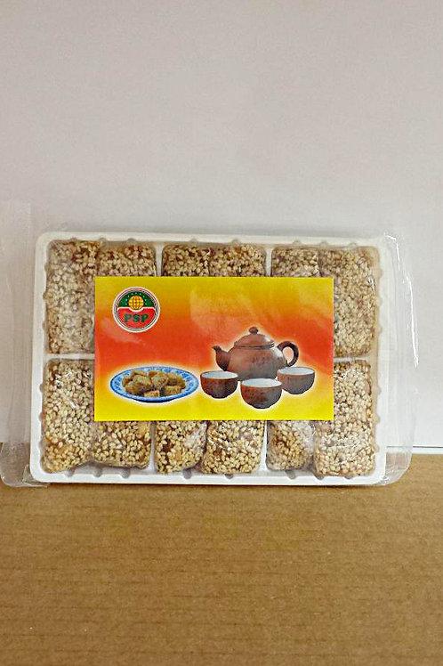 PSP Soft Sesame Peanut Ginger Cube Candy 250gm 3 pkg Free Shipping