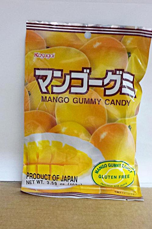 Kasugai GLUTEN FREE Mango Gummy Candy 102gm 6 pkg Free Shipping