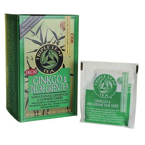 Triple Leaf Tea Gingko & Decaf Green Tea 20bags 8 boxes Free Shipping