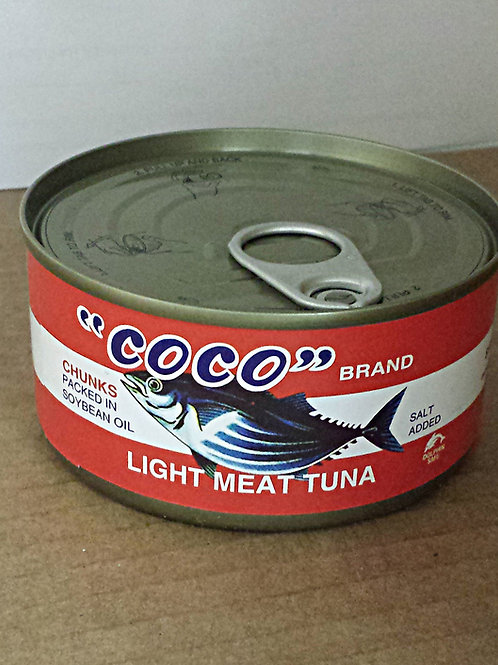 """CoCo"" Light Meat Tuna 185gm 6 cans Free Shipping"