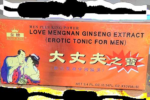 Royal King Love Mengnan Ginseng Extract 10x0.34oz 6 boxes Free Shipping