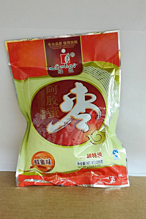 Lukai Sweetened Jujube 235gm 8 pkgs Free Shipping