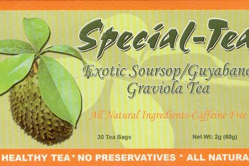 Special-Tea Exotic Soursop/Guyabano Graviola Tea 30 tea bags Free Shipping