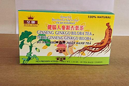 Royal King Ginseng Ginkgo Biloba Tea 20bags 8 boxes Free Shipping