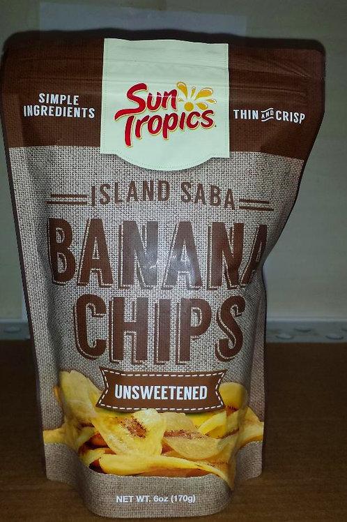 Sun Tropics Banana Chips Unsweetened 6oz 3 pkg Free Shipping