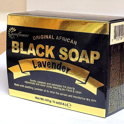 Sunflower Black Soap lavender 5oz 3 bars Free Shipping