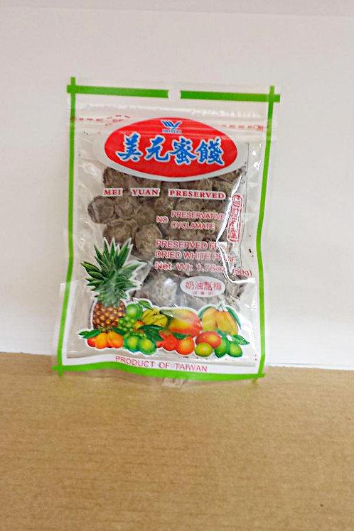 Mei Yuan Dried White Prune 50gm 5 pkg Free Shipping