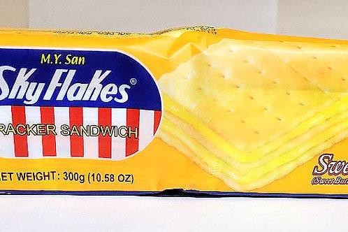 SkyFlakes Cracker Sandwich Sweet Mantikilya 300gm 6 pkgs Free Shipping