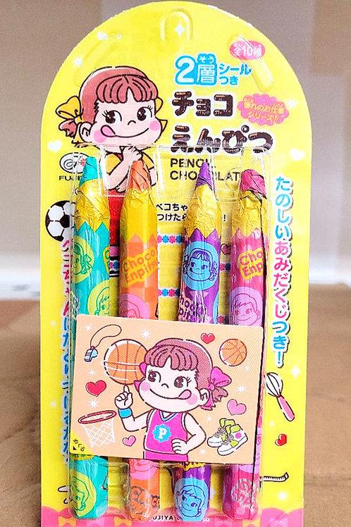 Fujiya Pencil Chocolate 27gm 4 pkgs Free Shipping