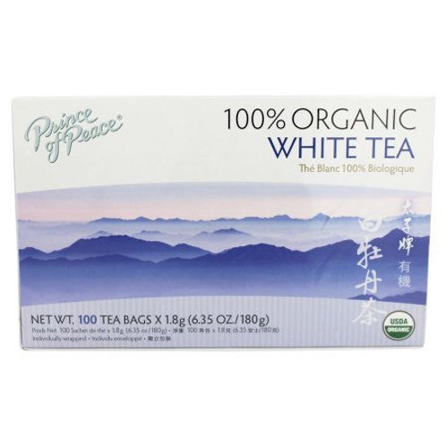 Prince of Peace 100% Organic White Tea 100bags 2 boxes Free Shipping