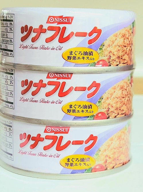 Nissui Light Tuna Flake in Oil 3 cans/pack 12 packs Free Shipping