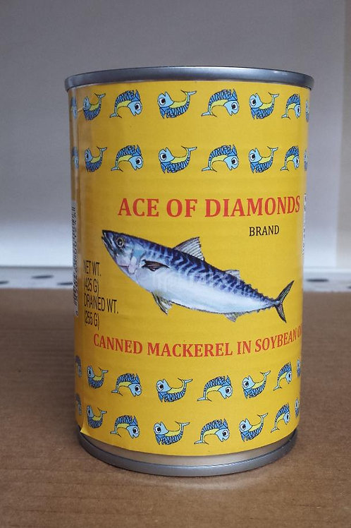 Ace of Diamonds Mackerel in Soybean Oil 425gm 6 cans Free Shipping