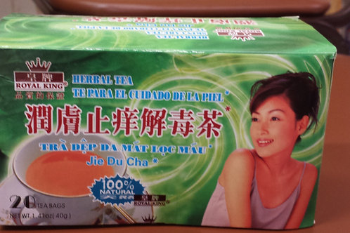 Royal King Skin Care Tea (Jie Du Cha) 20bags 5 boxes Free Shipping
