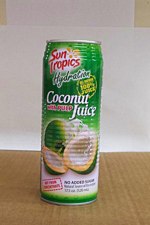 Sun Tropics Coconut Juice with Pulp 520ml Free Shipping