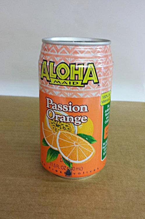 Aloha Maid Passion Orange Drink 340ml Free Shipping