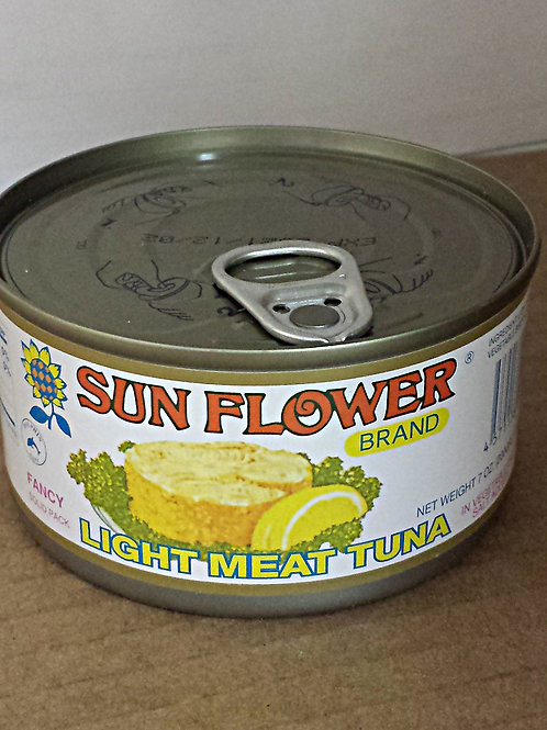 Sun Flower Light Meat Tuna 7oz 6 cans Free Shipping