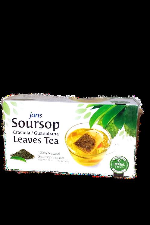jans Soursop Graviola/Guanabna Leaves Tea 25bags 3 boxes Free Shipping