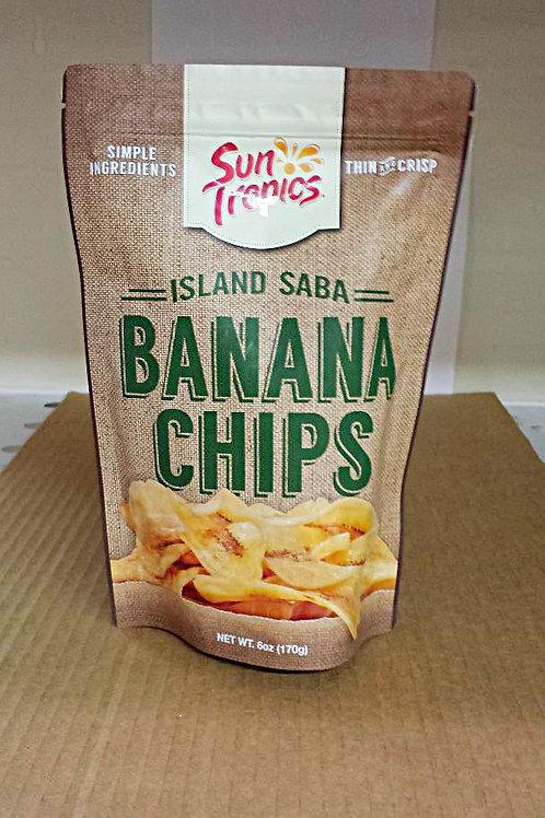 Sun Tropics Banana Chips 6oz 3 pkg Free Shipping