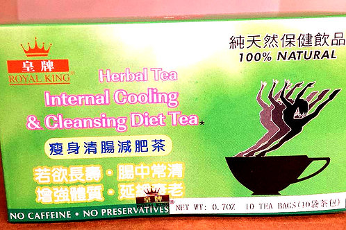 Royal King Internal Cooling & Cleansing Diet Tea 10bags 5 boxes Free Shipping