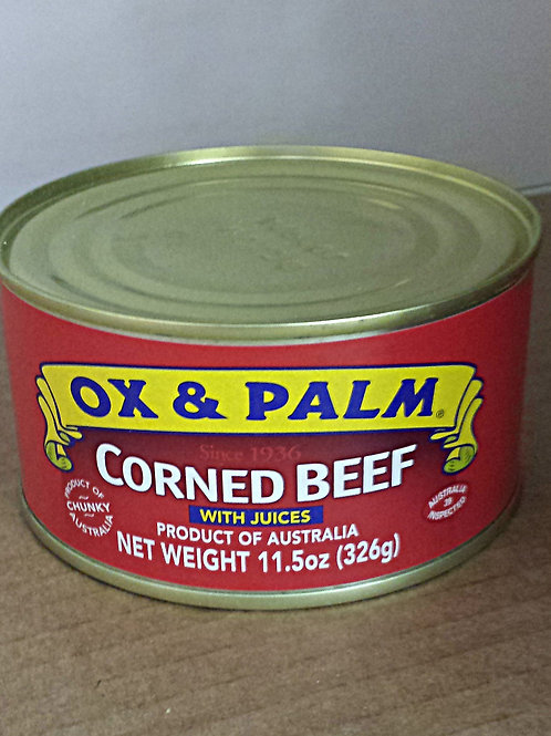 Ox & Palm Corned Beef 326gm 6 cans Free Shipping