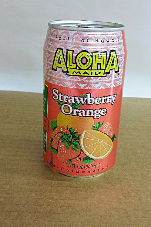 Aloha Maid Strawberry Orange Drink 340ml Free Shipping