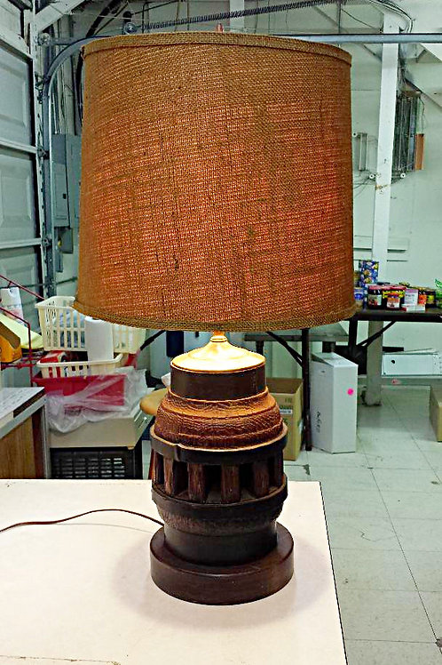 Antique Wagon Wheel Table Lamp with Metal Clamp Free Shipping
