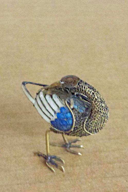 """Miniature Metal Bird 1.87"""" high x 1.5"""" long Free Shipping"""