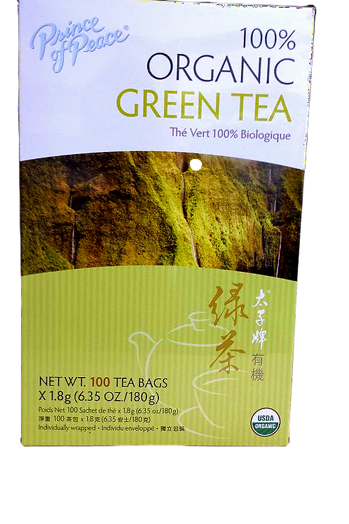 Prince of Peace 100% Organic Green Tea 100bgs 5 boxes Free Shipping
