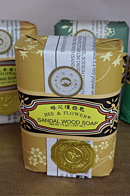 Bee & Flower Sandal Wood Soap 12x75gm Free Shipping