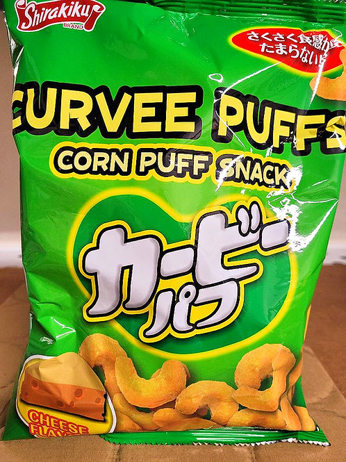 Shirakiku Curvee Puffs 70gm 7 pkgs Free Shipping