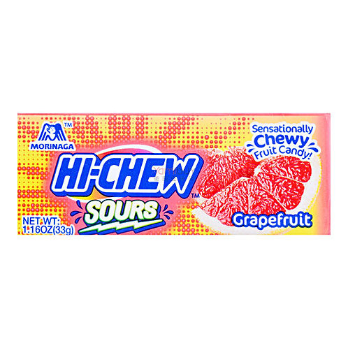 Hi-Chew Sour Grapefruit 33gm Free Shipping