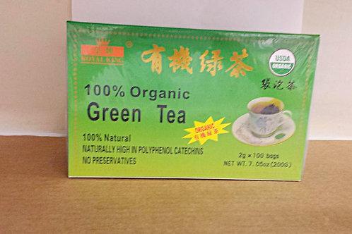 Royal King 100% Organic Green Tea 100bags 2 boxes  Free Shipping