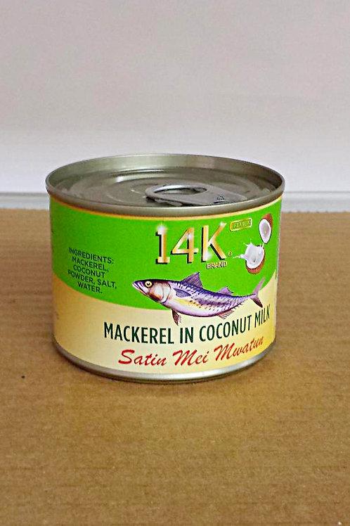 14K Mackerel in Coconut Milk 190gm, 3 cans for $23.49