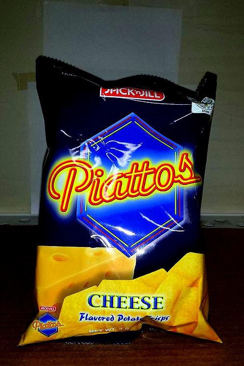 J&J Piattos Cheese Flavored Potato Crisps 4 pkgs Free Shipping