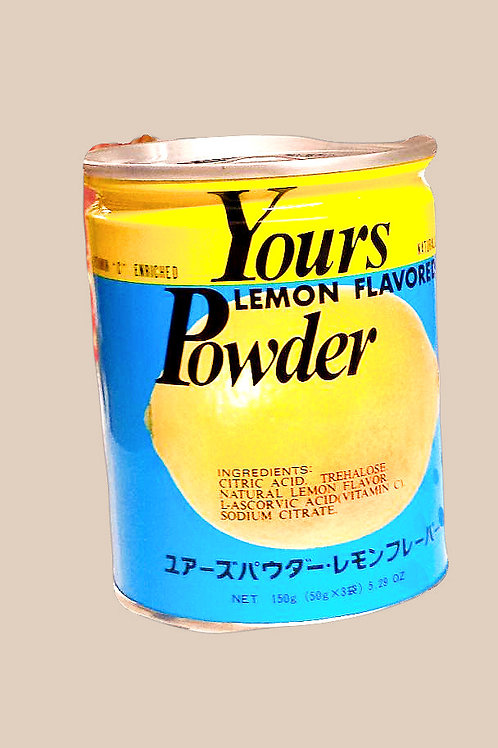 Yours Lemon Flavored Powder 150gm 3 cans Free Shipping