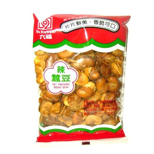 Six Fortune Prepared Broad Bean 170gm 4 pkg Free Shipping