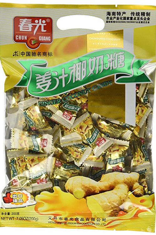 Chun Guang Ginger Coconut Candy 200gm Free Shipping