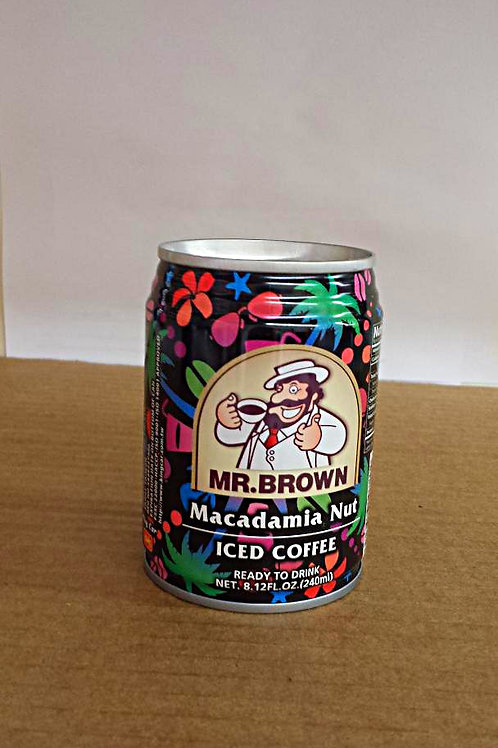 Mr. Brown Macadamia Nut Coffee 240ml Free Shipping