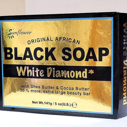 Sunflower Black Soap White Diamond 5oz 3 bars Free Shipping